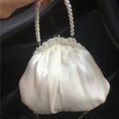 口金包[美芽的店]溫柔復古的網紗花邊口金包斜背迷你小包新年禮物