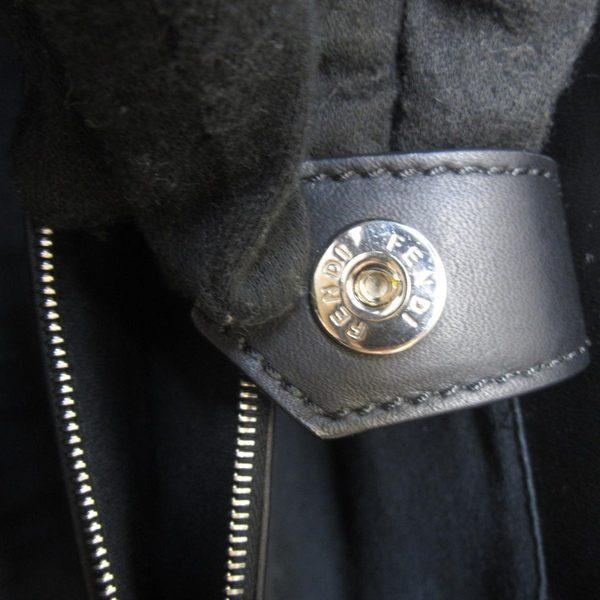 FENDI Petit 2Jours 琺瑯飾條小牛皮兩用提包 8BH253 Denim【BRAND OFF】