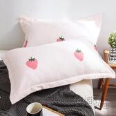 枕頭單人可愛枕芯一對裝夏天帶枕套整頭學生宿舍簡約家用椎枕HM 衣櫥秘密
