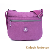 金安德森 莓果漫遊 圓弧簡約斜側包 紫色