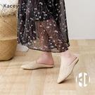 包頭拖鞋女外穿軟底夏季時尚氣質尖頭平跟編...