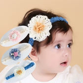 UNICO 韓版 毛線花朵造型髮帶