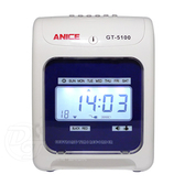 《一打就通》Anice雙色列印高效能六欄位打卡鐘 GT-5100 ∥藍色背光∥液晶顯示∥
