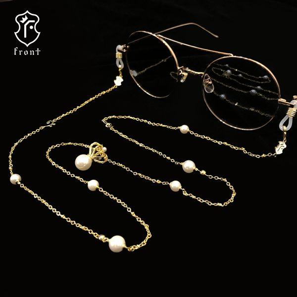 【Front 眼鏡鍊】金屬皇冠造型眼鏡鍊-三色可選#眼鏡鍊/防滑掛繩