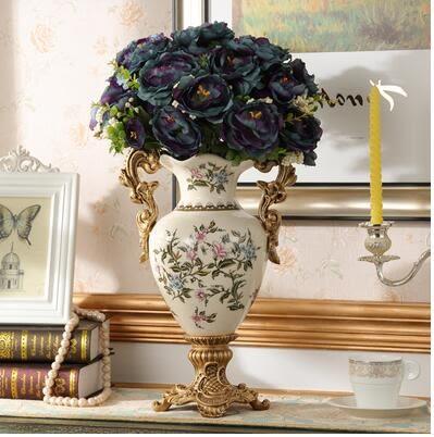 歐式家用陶瓷多功能紙巾盒抽紙盒餐巾紙抽盒客廳遙控器收納盒創意 花瓶
