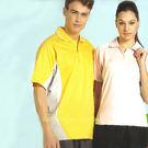 日本名牌Kawasaki男女運動休閒吸濕排汗短POLO衫(黃/淺粉)