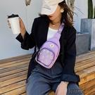 果凍果凍小包包新款潮夏質感透明胸包女時尚帆布洋氣斜背包包【全館免運】