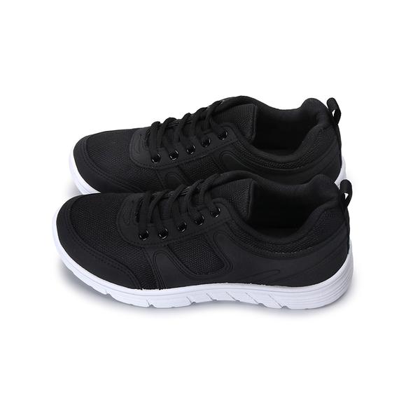 【富發牌】簡約流線女款輕量慢跑鞋-黑/白  1AP33