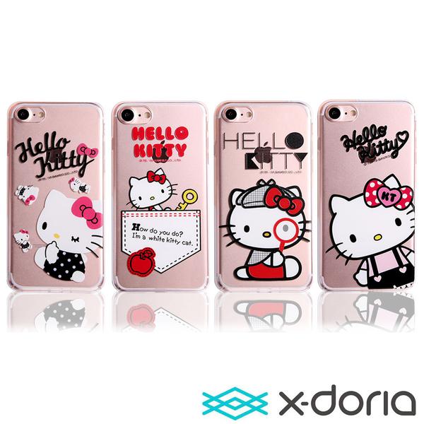 X-doria-iPhone SE2/7/8 (4.7吋)保護手機硬殼-知趣凱蒂系列
