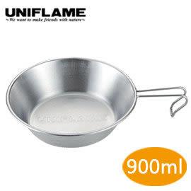 丹大戶外用品 日本【UNIFLAME】U668016 UF提耳碗 900ml 個人碗/登山碗/戶外碗/防燙碗/不銹鋼