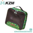 【KAZMI 韓國 KZM 經典民族風透氣型盥洗收納包《綠》】K5T3B009RD/收納包/露營收納/旅行收納