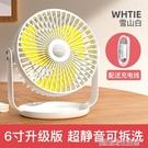 羽博USB小風扇大風力學生宿舍床上迷你車載家用廚房客廳小型插電節能電風扇