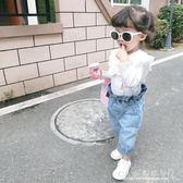 春季女寶寶荷葉邊襯衫韓版女童純棉上衣中小兒童百搭襯衫 『CR水晶鞋坊』