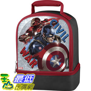 [106美國直購] 手提包 Thermos Dual Lunch Kit, Captain America Civil War