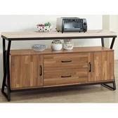 櫥櫃餐櫃FB 346 1 奧蘿拉集層柚木5 尺碗盤櫃【大眾家居舘】