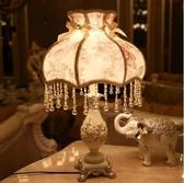 M-歐式檯燈公主田園創意美式結婚婚慶床頭婚房裝飾檯燈(閉月羞花-不贈送燈泡)【首圖款】