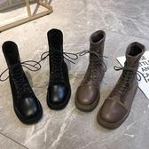 瘦瘦靴 港味馬丁靴女英倫風新款顯腳小腳瘦靴子加絨網紅超火冬季短靴-樂購旗艦店