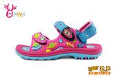 GP涼鞋 中大童 宇宙星球磁扣兩穿足弓防水涼鞋 I6665#粉紅◆OSOME奧森童鞋