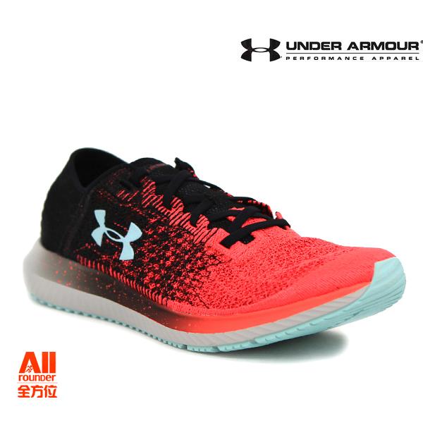 【UA Under Armour】男款慢跑鞋 Threadborne Blur-黑橘紅(3000008600)-現貨全方位慢跑概念館