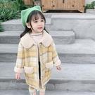 女童外套秋冬裝呢子大衣2019新款兒童中長款加絨毛呢洋氣時髦【快速出貨】