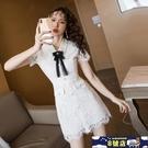 蕾絲洋裝裙 桔梗裙初戀白色裙2020夏季新款時尚法式甜美女神范氣質連身裙 8號店