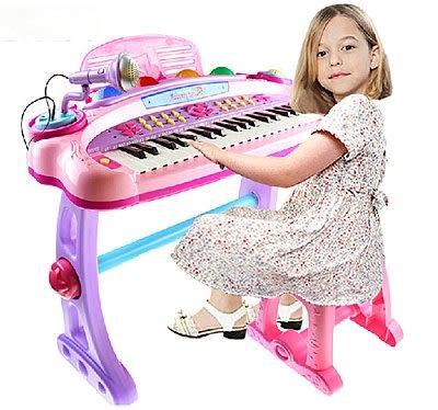 兒童益智多功能音樂玩具電子琴小鋼琴帶麥克風電源【藍星居家】