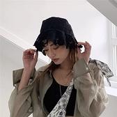 漁夫帽-蕾絲網紗鏤空薄款女盆帽2色73xu4【時尚巴黎】
