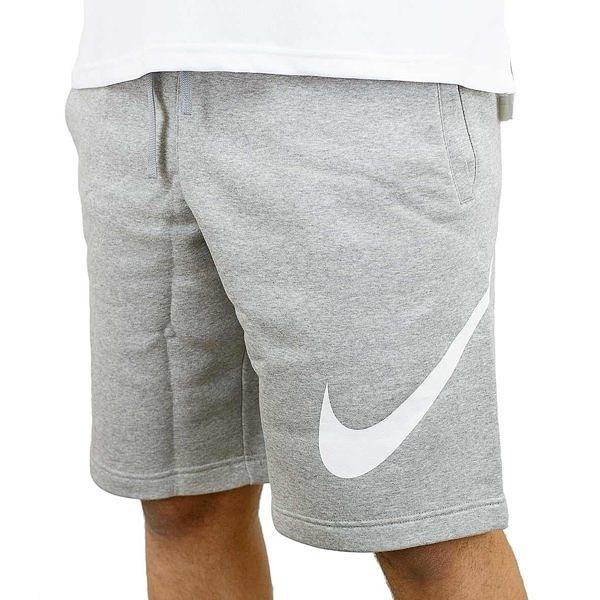 NIKE JERSEY SHORTS WITH LARGE LOGO IN GREY 耐克 運動短褲 灰