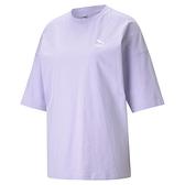 PUMA CLASSICS 女裝 短袖 休閒 歐規 寬版 基本款 棉質 紫【運動世界】59957916