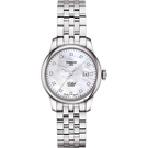 TISSOT天梭 Le Locle 力洛克真鑽機械女錶-珍珠貝x銀/29mm T0062071111600
