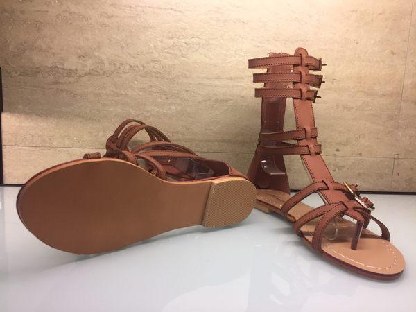 涼鞋☆PINKPOKO粉紅波可☆韓版新款平底百搭羅馬~2色#6237J