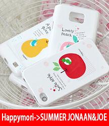 【韓國原裝 Happymori】※Fruit bongbong ♡※  前殼+背殼 手機保護殼 適用iphone4s/4  Galaxy S2 i9100
