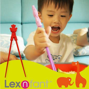 【出清促銷】Lexnfant 萊仕喀 矽膠嬰幼廚師熊學習筷組