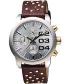 DIESEL Double Down龐克風格計時腕錶/手錶 DZ5433