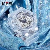 獨角獸透明手錶 初高中學生女生兒童簡約氣質ins風超火防水電子錶 優樂美