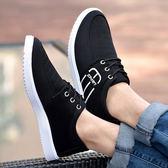 帆布鞋 夏季透氣男鞋子男士休閒防滑板鞋帆布鞋男跑步運動鞋韓版百搭潮鞋 3色39-45