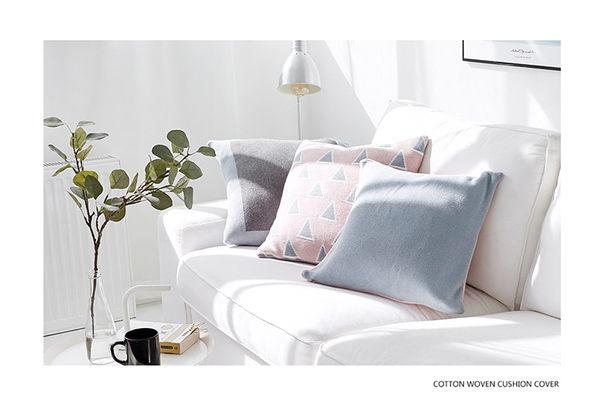 沙發抱枕腰墊 北歐全棉毛線編織靠枕套含芯 軟裝地板坐靠墊 挪威森林