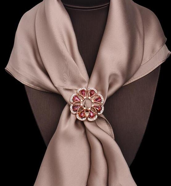 胸針女胸花大氣質兩用披肩絲巾扣