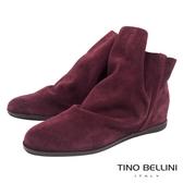 Tino Bellini義大利進口彼德潘內增高短靴_酒紅 B69038 歐洲進口