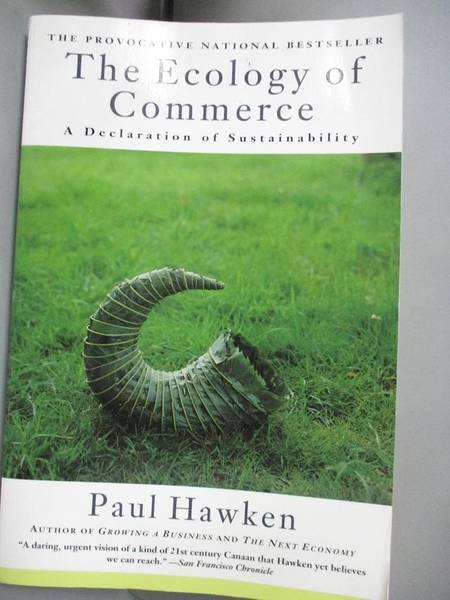 【書寶二手書T9/原文小說_ILH】The ecology of commerce : a declaration of