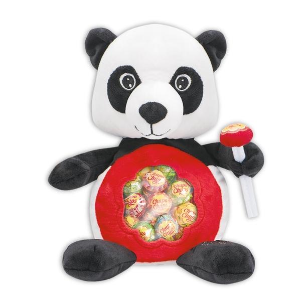 Chupa Chups 超級好朋友背包綜合棒棒糖192g(熊貓)