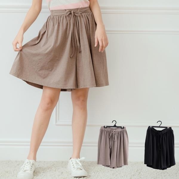 鬆緊綁帶素色設計褲裙 Only You 中大尺碼 MIT台灣製 【B8040】