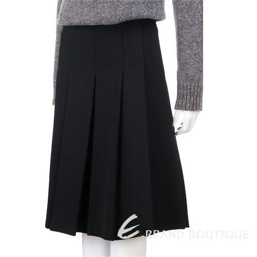 MAX MARA 黑色百褶及膝裙 1230199-01