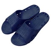 ALL CLEAN橫格紋浴室拖鞋 藍/41