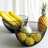 悠木 北歐風簡約桌面鐵藝客廳水果籃創意瀝水筐果盆果簍收納籃子 初見居家