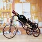 創意復古歐式酒櫃裝飾品擺件家居客廳工藝品擺設葡萄酒架紅酒架子 一米陽光