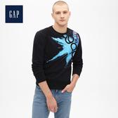 Gap男裝Jolin設計款男女同款長袖套頭休閒上衣534741-純正黑色