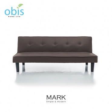 obis MARK 現代風都會皮質沙發床-咖啡