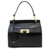 BALENCIAGA 巴黎世家 黑色牛皮手提肩背兩用包 Le Dix Handbag【二手名牌 BRAND OFF】