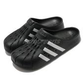 adidas 涼拖鞋 Adilette Clog 黑 銀 男鞋 女鞋 包頭拖鞋 洞洞設計 運動拖鞋 【ACS】 FY8969